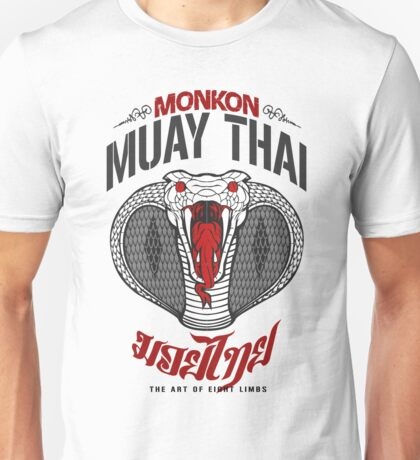 monkon muay thai cobra thailand martial art sport logo light or white shirt Unisex T-Shirt