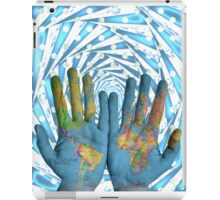 World is In Your Hands iPad Case/Skin