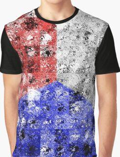 Glass Tiles Tricolor RWB Graphic T-Shirt