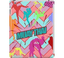 muay thai boxing pattern sign board thailand martial art iPad Case/Skin