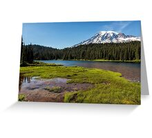 Mt Rainier from Reflection Lake, No. 2 Greeting Card