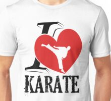 i love karate japanese martial art Unisex T-Shirt