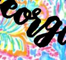 Georgia Lilly Outline Sticker