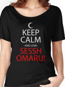 Keep Calm And Love Sesshomaru Anime Manga Shirt Women's Relaxed Fit T-Shirt