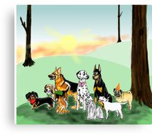 March of the Dogs Canvas Print