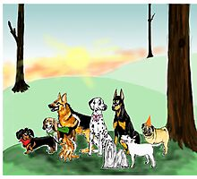 March of the Dogs Photographic Print