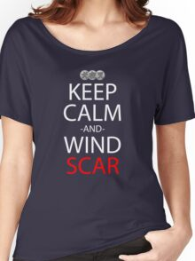 Keep Calm And Wind Scar Anime Manga Shirt Women's Relaxed Fit T-Shirt