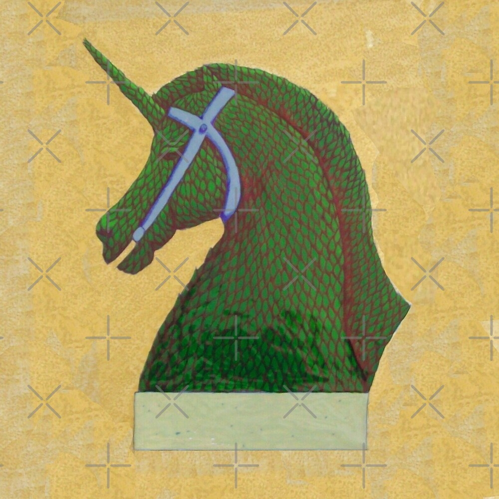 Topiary Horse with Horn by Donna Huntriss