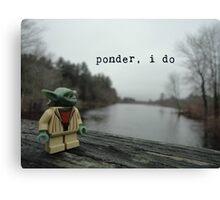 Pondering Yoda Canvas Print