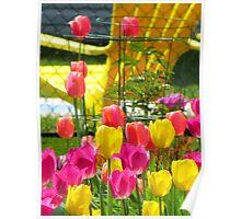 Tea & Tulips Poster