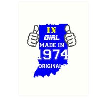 This Indiana Girl Made in 1974 Art Print