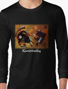 Kandinsky - Black and Violet Long Sleeve T-Shirt