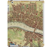 Vintage Map of London England (16th Century) iPad Case/Skin