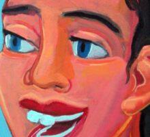 Chica en la playa 4 por Diego Manuel  Sticker