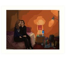 Root and Shaw in Root's Subway Room Art Print