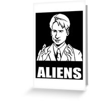 X Files Mulder Ancient Aliens  Greeting Card