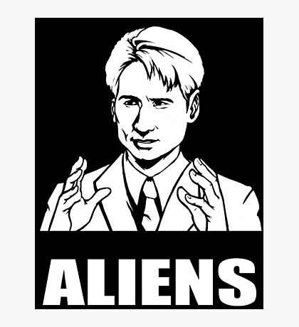 X Files Mulder Ancient Aliens  Photographic Print