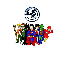 JLA Characters Photographic Print