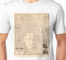 Vintage Map of Lake Tahoe Calfornia (1874) Unisex T-Shirt