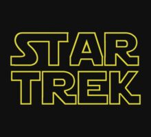 Star Trek / Star Wars mash up logo design by hypergeekstuff