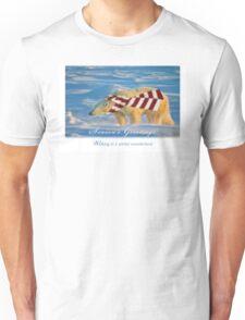 Walking in a polar bear's wonderland Unisex T-Shirt