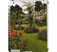 It is Raining Rose Petals - Queen Mary Gardens on a Rainy London Day iPad Case/Skin