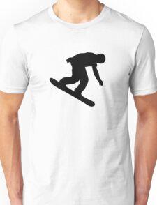 Snowboarder downhill Unisex T-Shirt