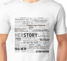 Hillary Clinton Historic Headlines Unisex T-Shirt