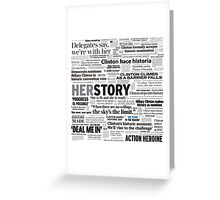 Hillary Clinton Historic Headlines Greeting Card