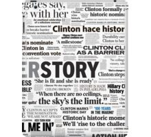 Hillary Clinton Historic Headlines iPad Case/Skin