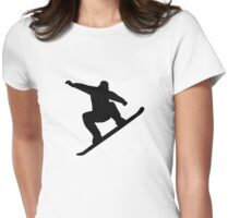 Snowboarding freestyle Womens Fitted T-Shirt