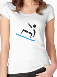 Snowboarding logo Women's Fitted Scoop T-Shirt