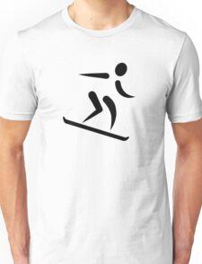 Downhill snowboard icon Unisex T-Shirt