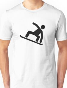 Snowboarding logo Unisex T-Shirt