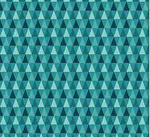 Blue Geometric Triangle Pattern by Stacey Muir