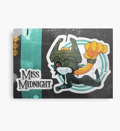 Miss Midnight Metal Print