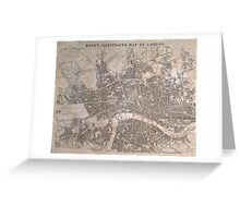 Vintage Map of London England (1845) Greeting Card