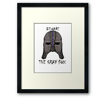 Beware the Gray Fox Framed Print