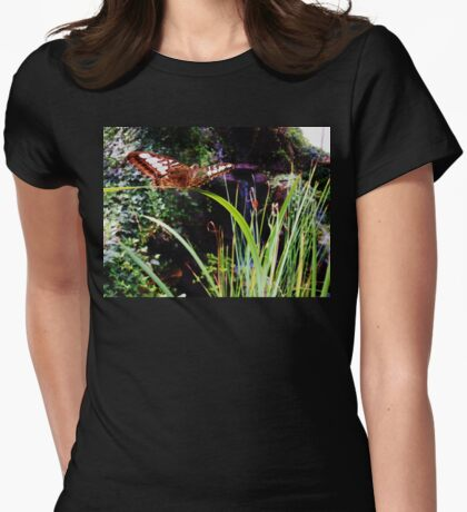 Butterfly Balancing Act (Clipper Parthenos Sylvia) Womens Fitted T-Shirt