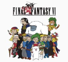 Final Fantasy 6 Characters by KewlZidane