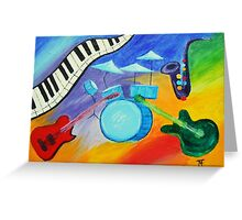 Jazz it! Greeting Card
