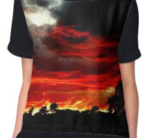 Doomsday Sunset Chiffon Top