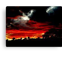 Doomsday Sunset Canvas Print