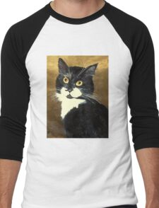 Tuxedo Cat Men's Baseball ¾ T-Shirt