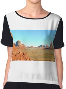 Monument Valley Panorama Chiffon Top