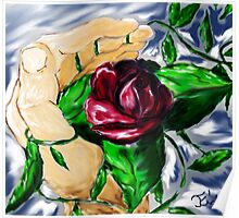 A Rose in Hand Poster
