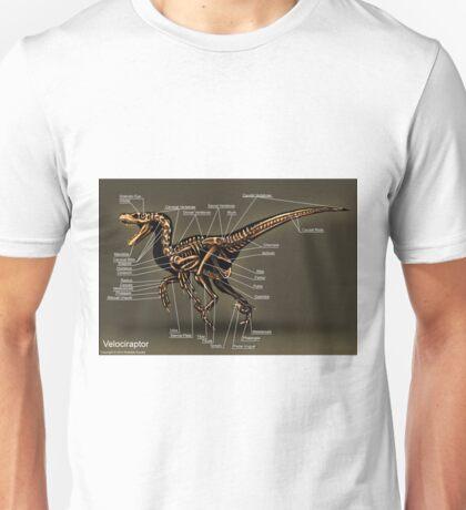 Velociraptor Skeleton Study Unisex T-Shirt