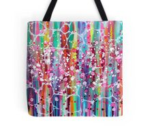 Roses n Bubbles on Rainbows Tote Bag
