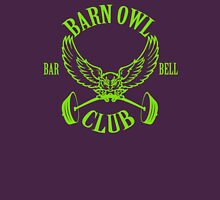 Barn Owl Barbell Club Green Unisex T-Shirt