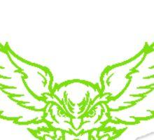 Barn Owl Barbell Club Green Sticker